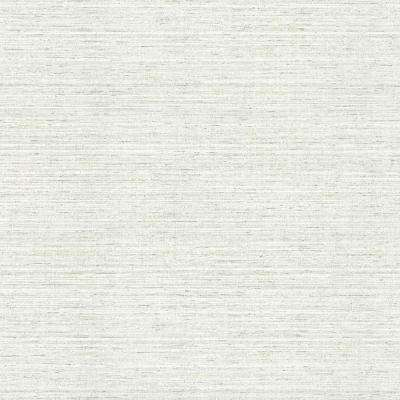 8 in. x 10 in. Madison Cream Faux Grasscloth Wallpaper Sample