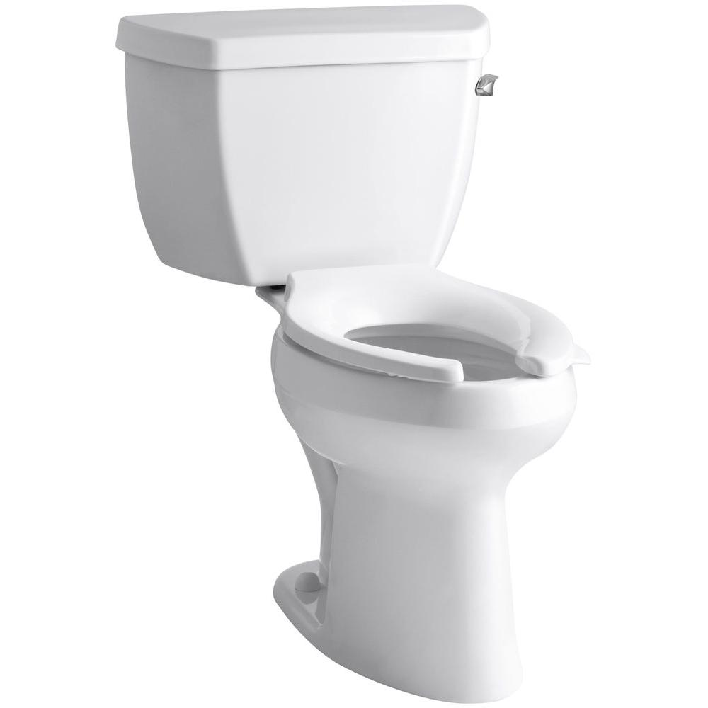 KOHLER Highline Classic 2-piece 1.6 GPF Single Flush Elongated Toilet in White