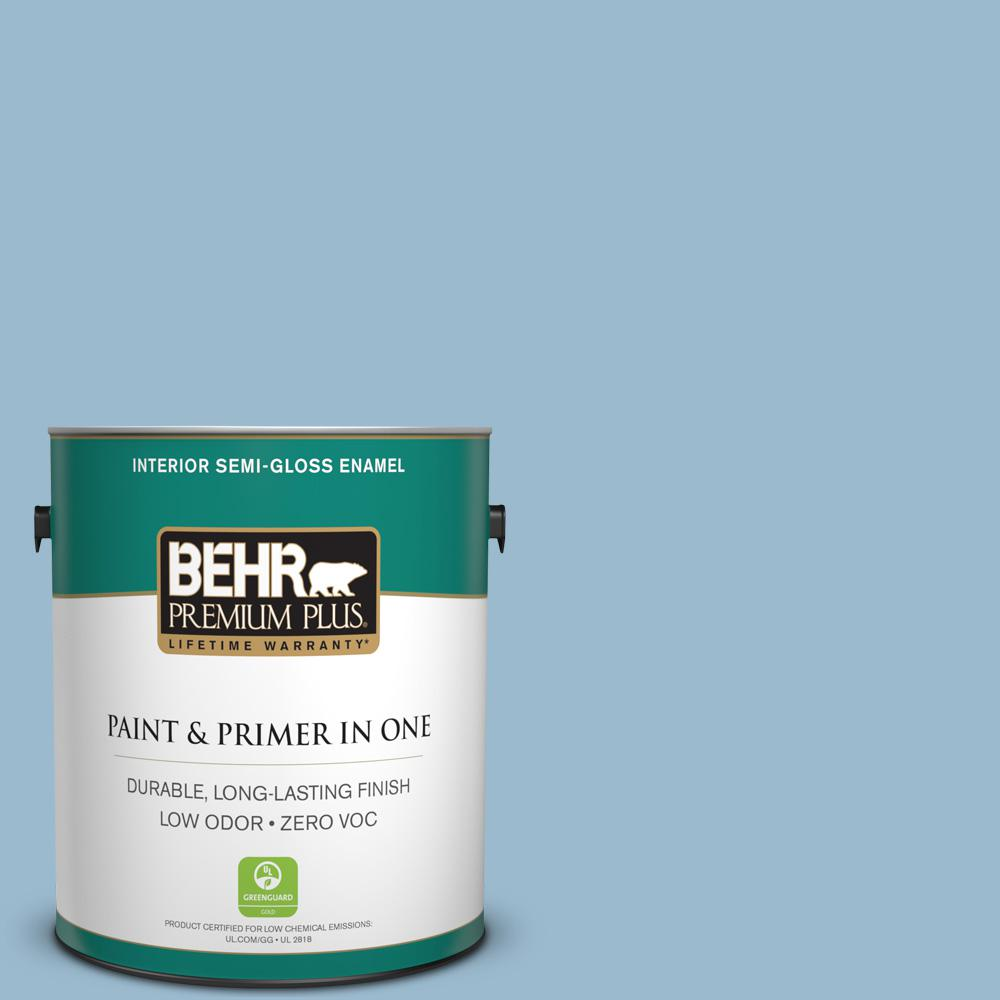 BEHR Premium Plus 1-gal. #S500-3 Partly Cloudy Semi-Gloss Enamel Interior Paint
