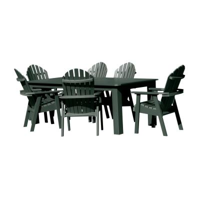 Hamilton Charleston Green 7-Piece Recycled Plastic Rectangular Outdoor Dining Set