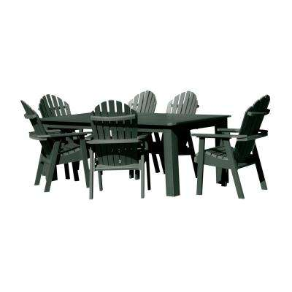Hamilton Charleston Green 7-Piece Recycled Plastic Rectangular Outdoor Dining Set