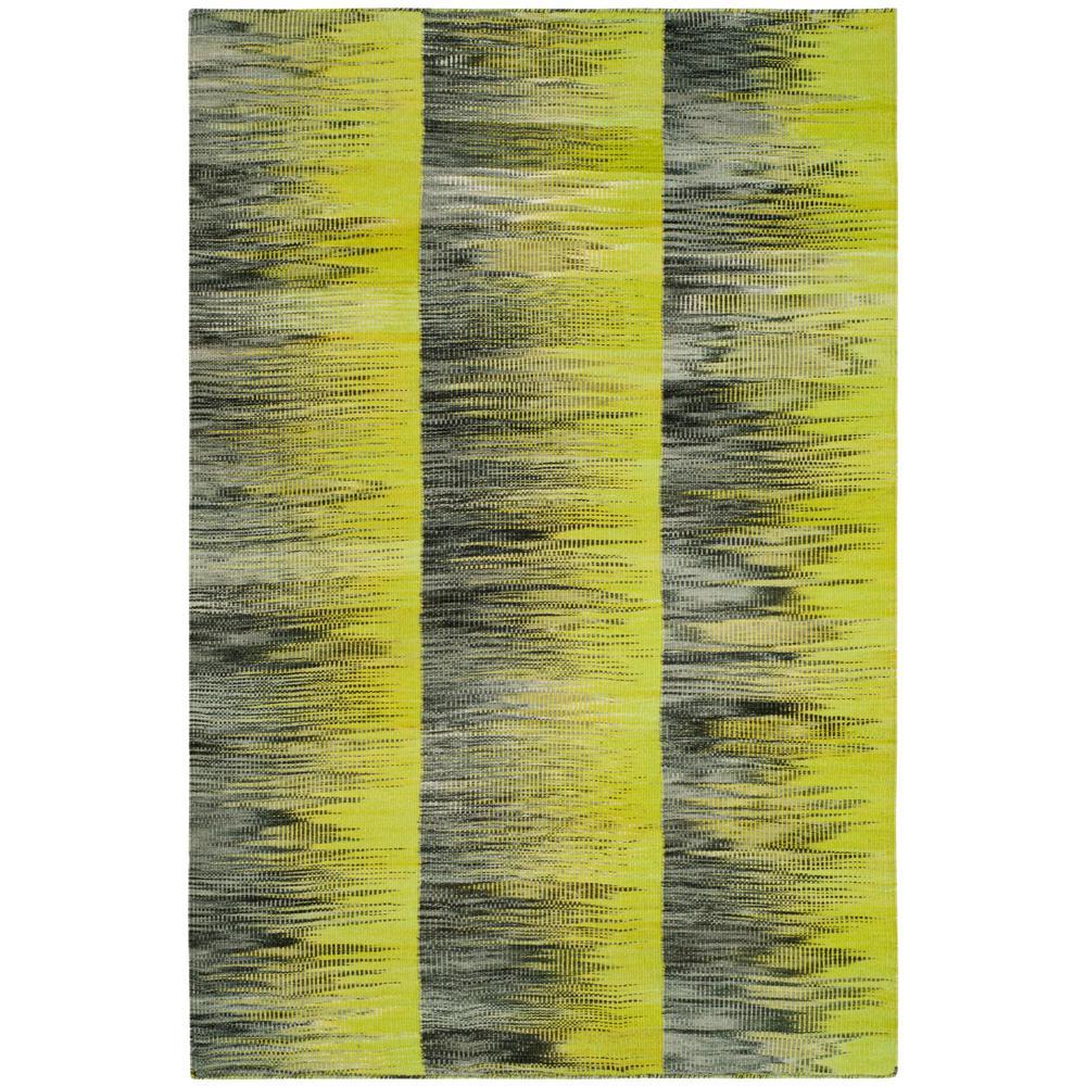 Kilim Green/Charcoal 4 ft. x 6 ft. Area Rug
