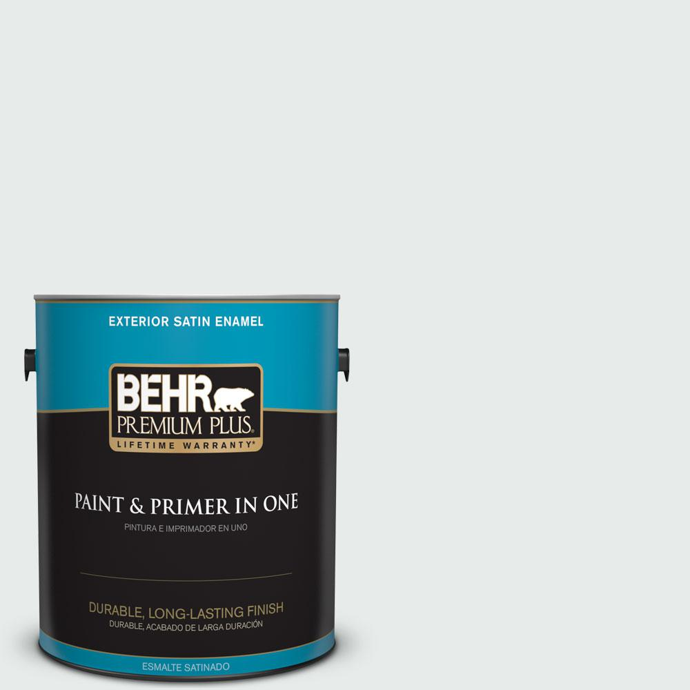 1-gal. #BL-W5 Dusting Powder Satin Enamel Exterior Paint