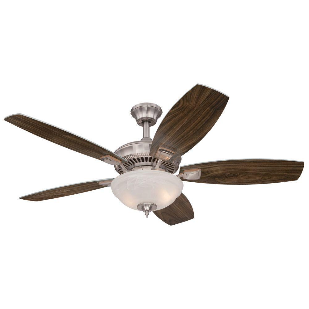 Tulsa 52 in. Indoor Brushed Nickel Ceiling Fan