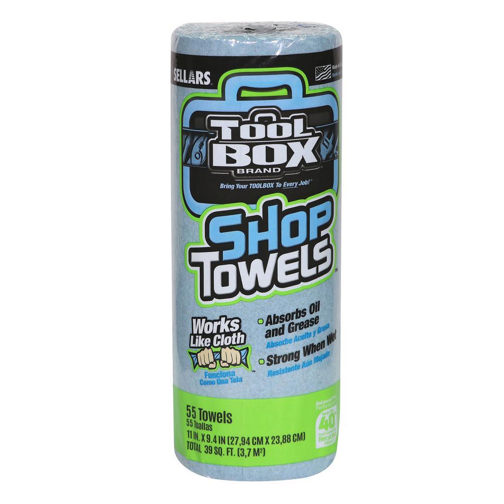 TOOLBOX 55-Count Shop Towel Roll