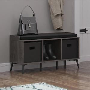 Outstanding Riverridge Home Woodbury Weathered Wood Storage Bench With Ncnpc Chair Design For Home Ncnpcorg
