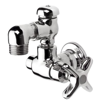 Commander 1/2 in. NPTF Brass Hose Bib Valve in Polished Chrome