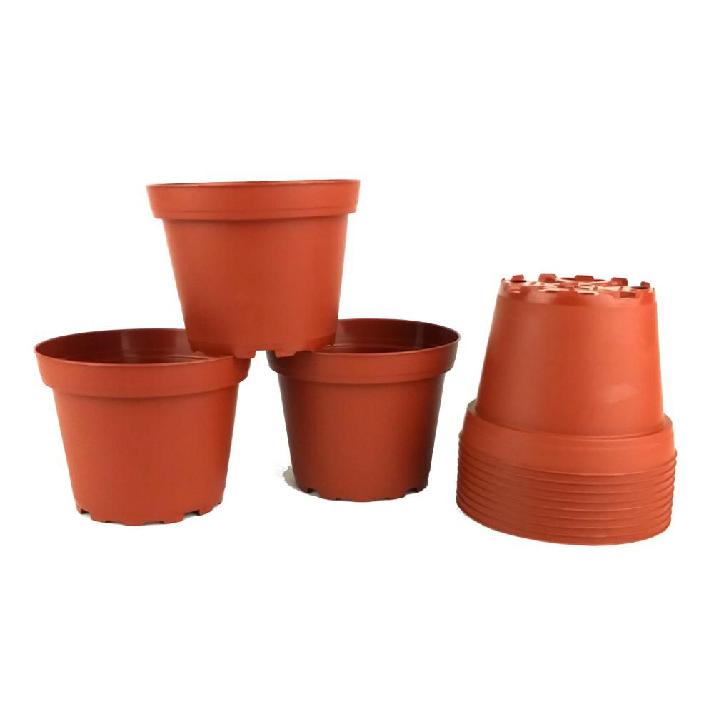 TEKU 4 in. Dia Terra Cotta Pots (12-Pack)