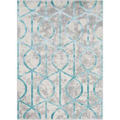 Sagara Teal 8 Ft X 10 Area Rug