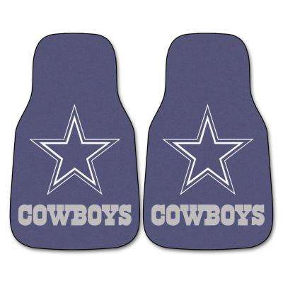 Dallas Cowboys 18 in. x 27 in. 2-Piece Carpeted Car Mat Set