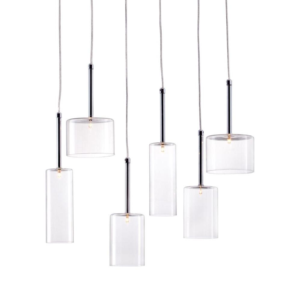 ZUO Hale 6-Light Clear Ceiling Lamp