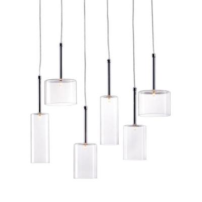 Hale 6-Light Clear Ceiling Lamp