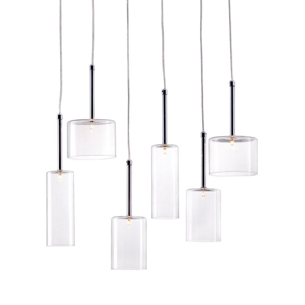 Hale 6-Light Clear Ceiling Lamp