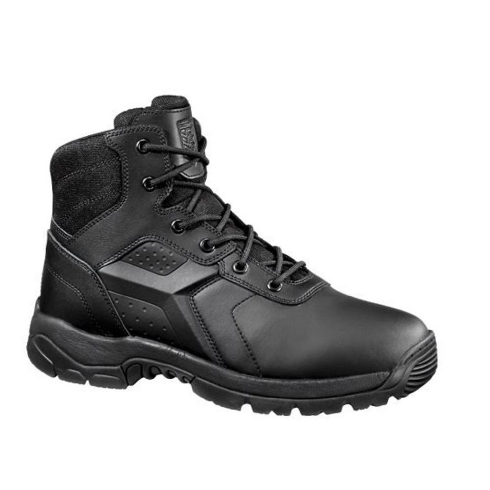 Men's 08.5MW Black Polishable Waterproof Composite Toe 6 in. Tactical Boot