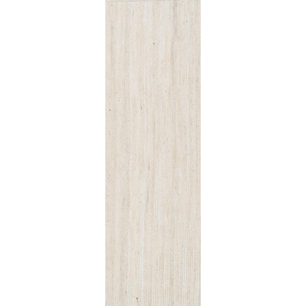 Rigo Chunky Loop Jute Off-White 3 ft. x 16 ft. Runner
