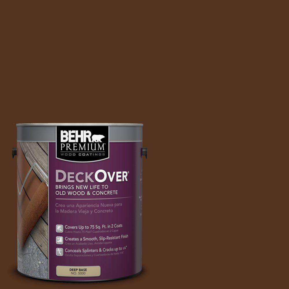 Behr Premium Deckover 1 Gal Sc 123 Valise Solid Color Exterior Wood And