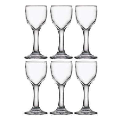 2.25 fl. oz. Hot Short Footed Shot Glasses (6-Pack)