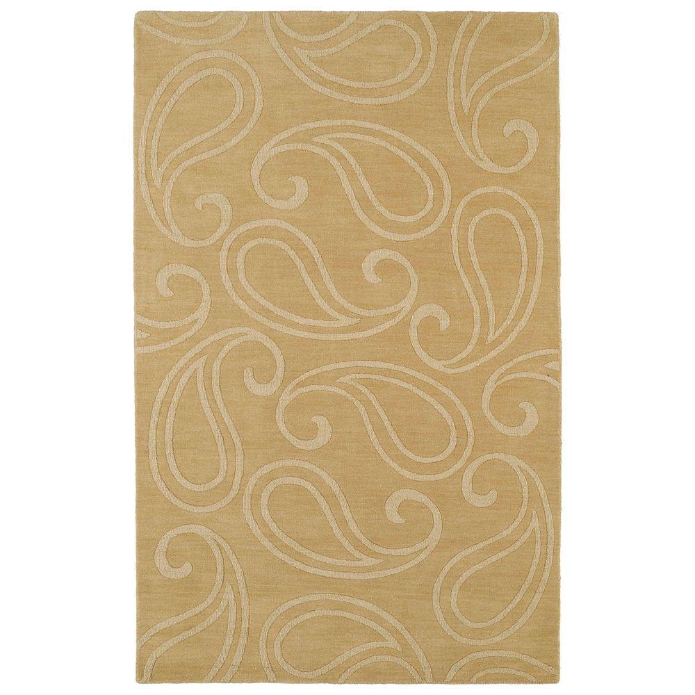 Imprints Classic Yellow 5 ft. x 8 ft. Area Rug