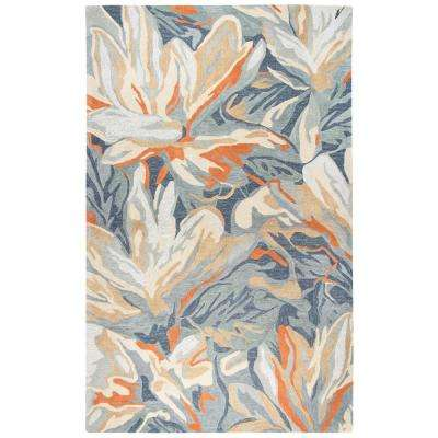 Lapis Multi-Colored 5 ft. x 8 ft. Floral/Abstract Area Rug