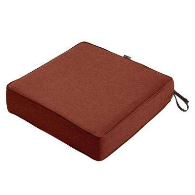 Montlake 21 in. W x 21 in. D x 5 in. Thick Heather Henna Red Outdoor Lounge Chair Cushion