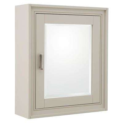 Shaelyn 24 in. W x 28 in. H Surface Mount Mirrored Medicine Cabinet in Rainy Day