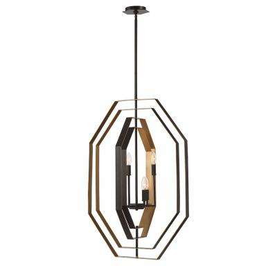 Montcalm 4-Light Oil Rubbed Bronze Chandelier