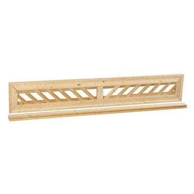 1 ft. x 6 ft. Decorative Lattice Wood Fence Panel Top Kit
