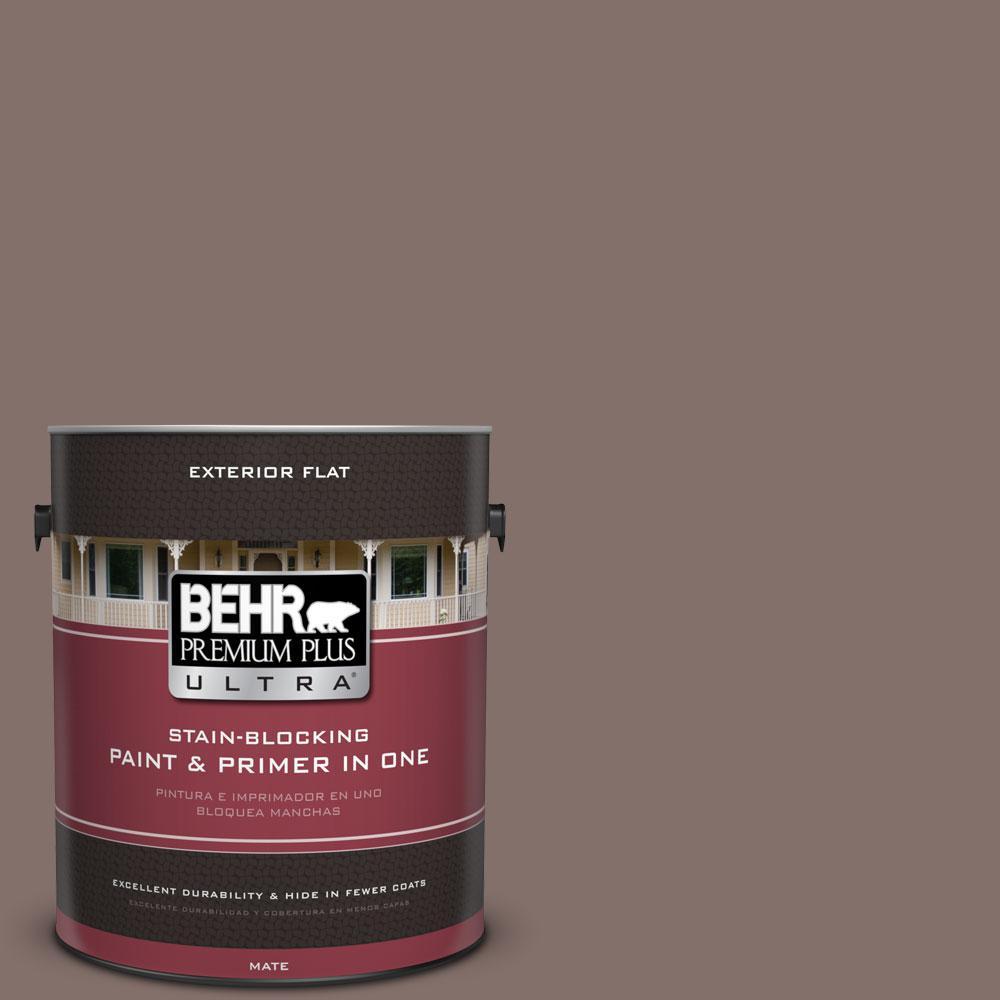 BEHR Premium Plus Ultra 1-gal. #740B-5 Bradford Brown Flat Exterior Paint