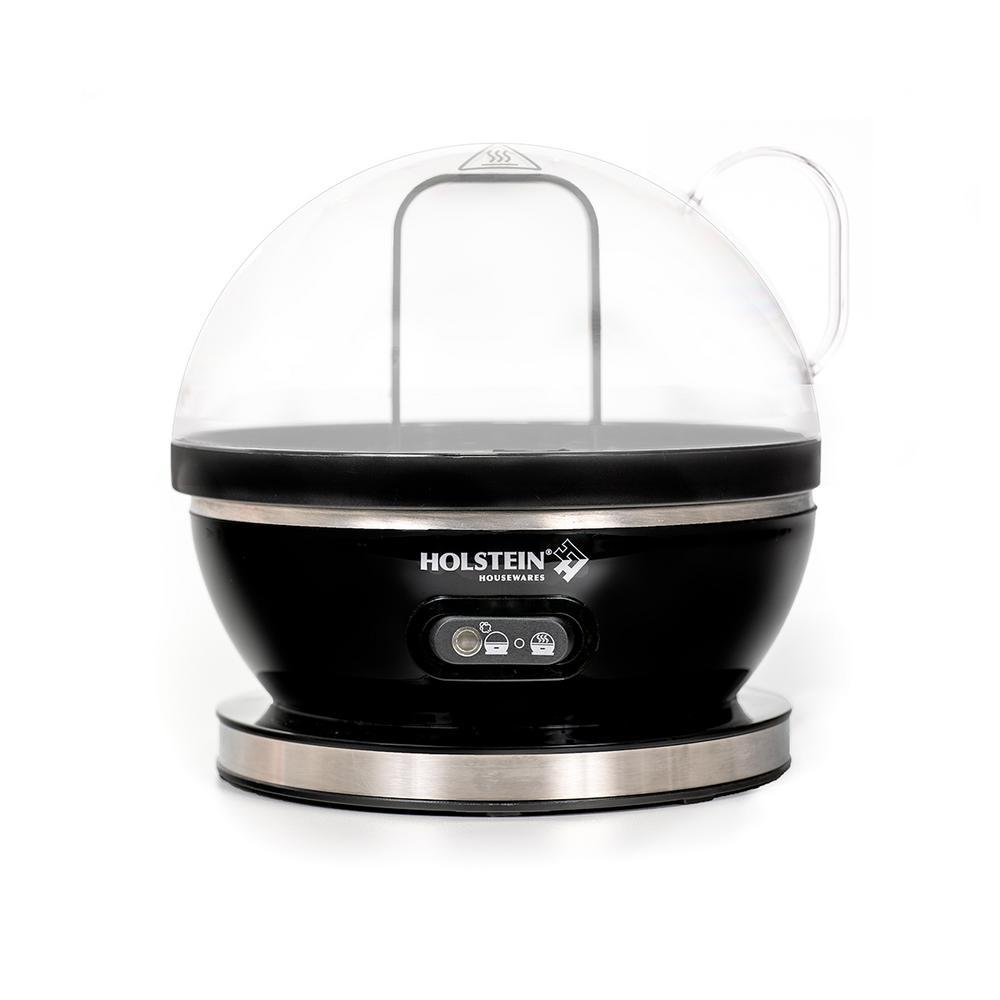 7-Egg Stainless Steel and Black Egg Cooker