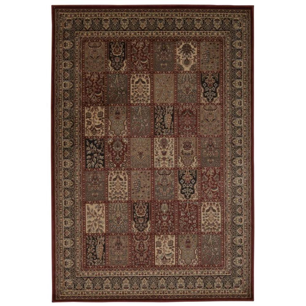 a160278431a Nourison Overstock Ararat Burgundy 8 ft. x 11 ft. Area Rug-254504 - The  Home Depot