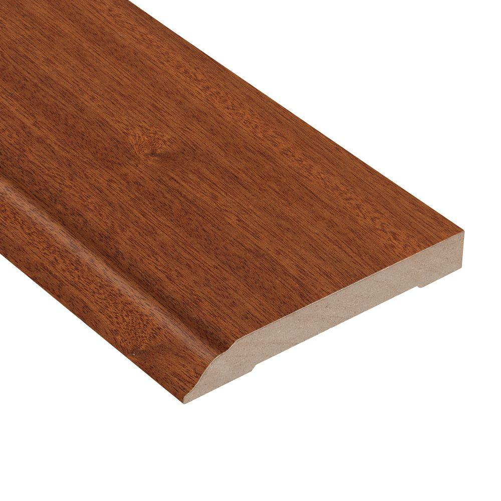 Home Legend Matte Chamois Mahogany 1/2 in. Thick x 3-1/2 in. Wide x 94 in. Length Hardwood Wall Base Molding
