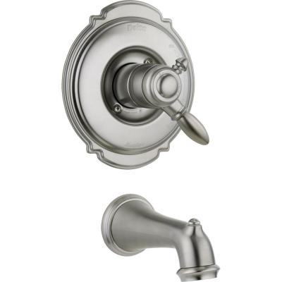 Victorian 1-Handle Tub Filler Trim Kit in Stainless with Dual-Function Cartridge (Valve Not Included)