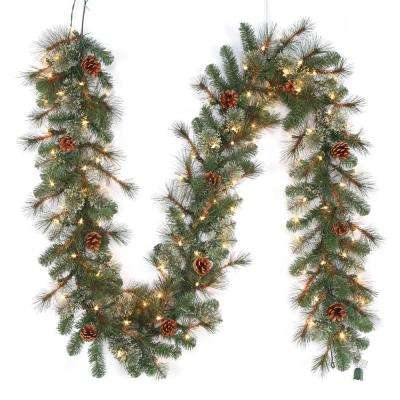 pre lit led artificial alexander pine christmas garland with 165 tips and