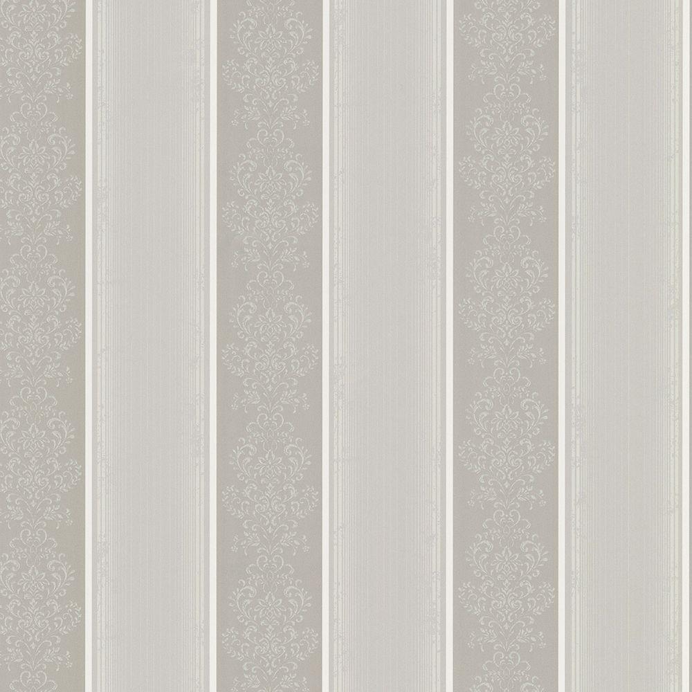 Chesapeake Eastport Pewter (Silver) Arabelle Stripe Wallp...