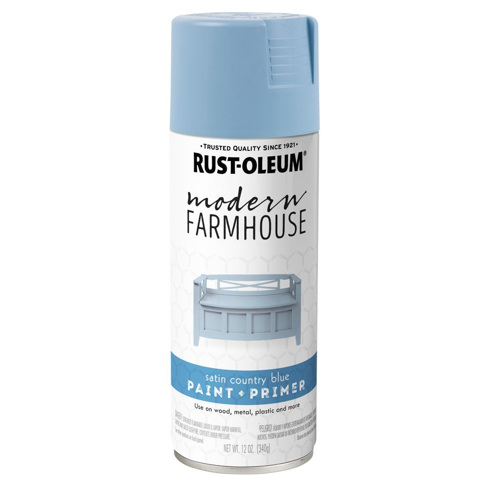 12 oz. Satin Country Blue Spray Paint