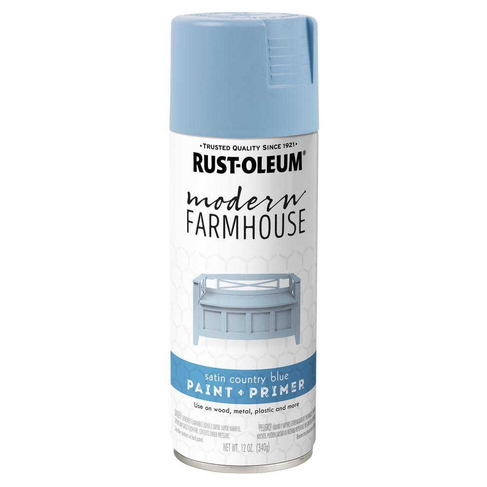 12 oz. Satin Country Blue Spray Paint