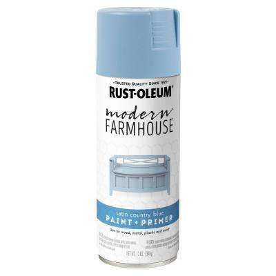 12 oz. Satin Country Blue Spray Paint (6 Pack)