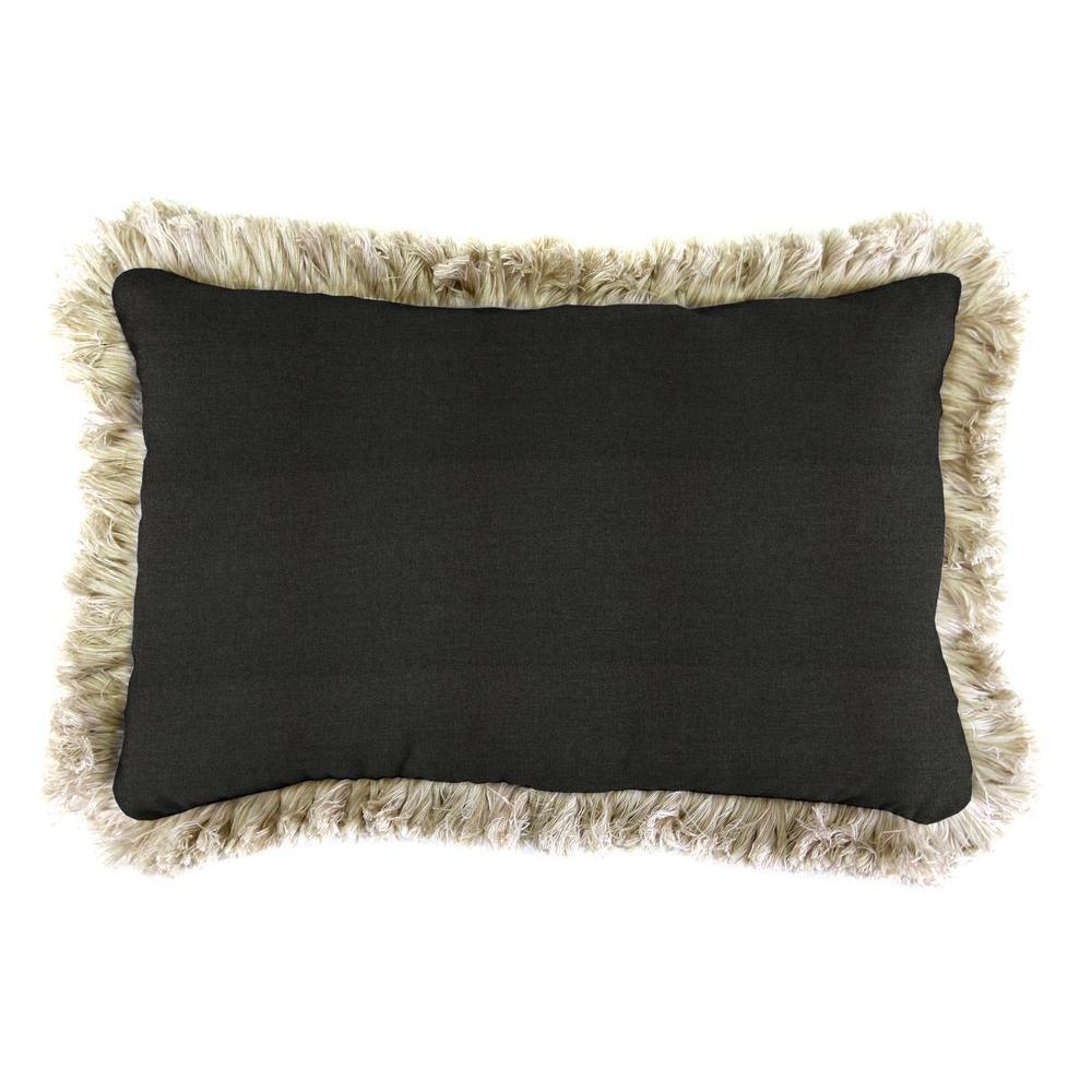 Spectrum Carbon Lumbar Outdoor Throw Pillow With Canvas