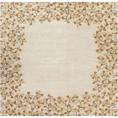 Canaan Ivory 6 ft. x 6 ft. Square Indoor Area Rug