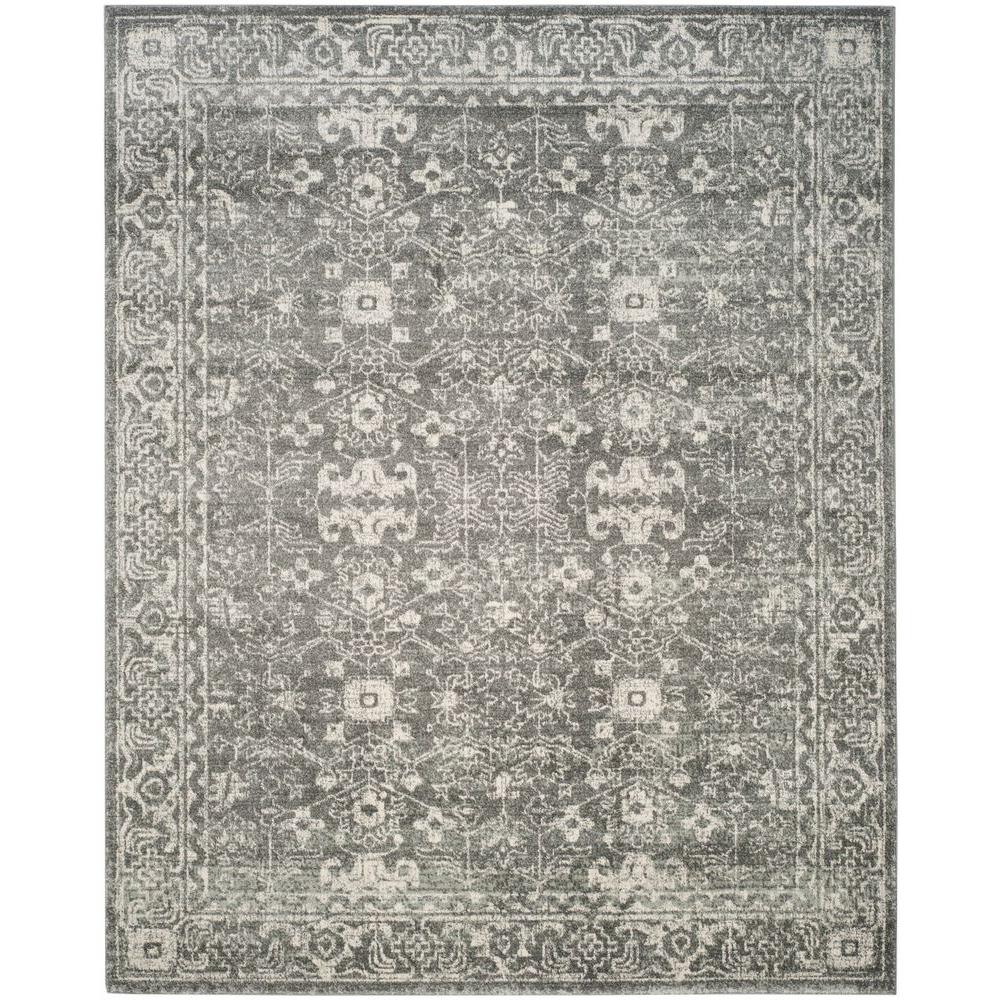Safavieh Evoke Grey Ivory 8 Ft X 10 Ft Area Rug Evk270s