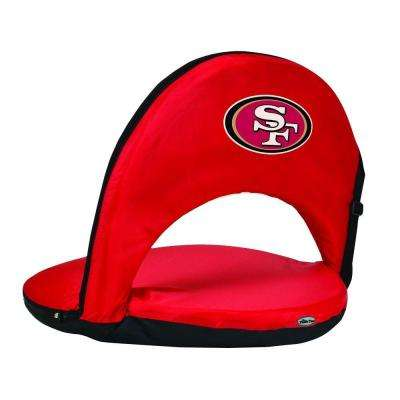 Oniva San Francisco 49ers Red Patio Sports Chair with Digital Logo
