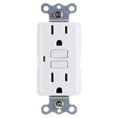 15 Amp Self Test GFCI Outlet, White