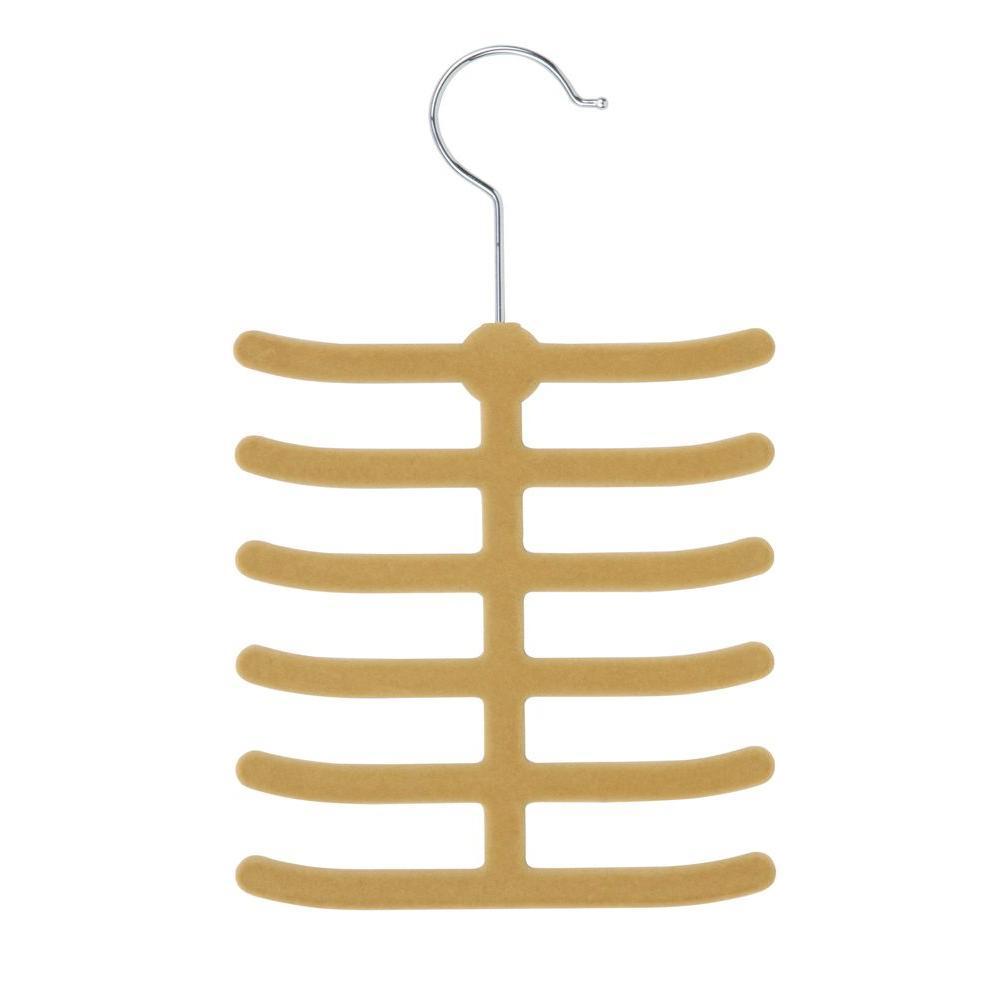 12-Hook Tan Tie Hanger Rack (20-Pack)