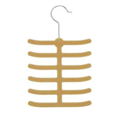 12-Hook Tan Tie Hanger (20-Pack)