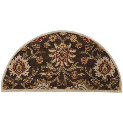 Cambrai Brown 2 ft. x 4 ft. Hearth Indoor Area Rug