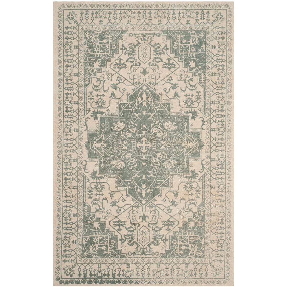 Safavieh Restoration Vintage Grey Ivory 4 Ft X 6 Ft Area