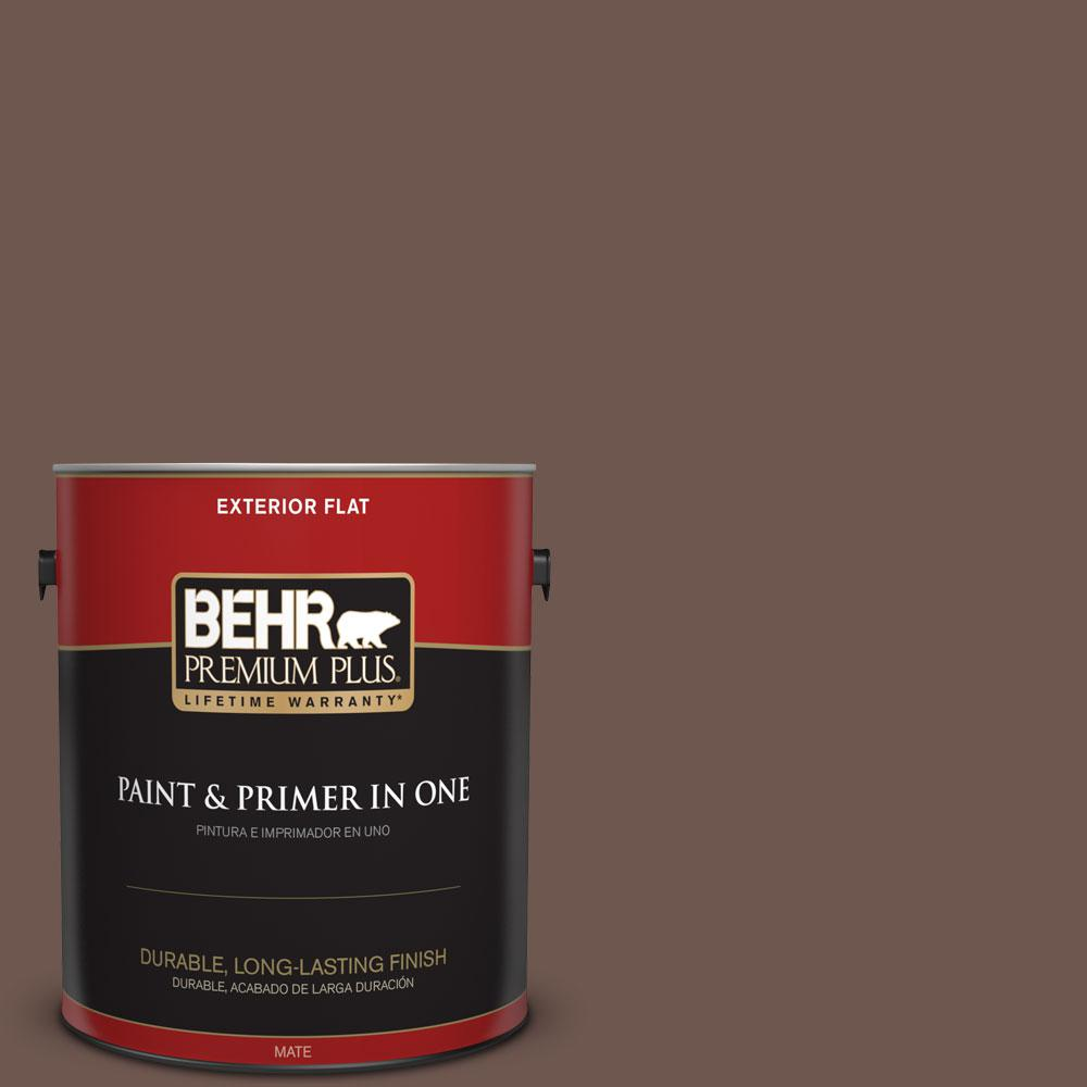 1-gal. #N170-6 Natural Bark Flat Exterior Paint