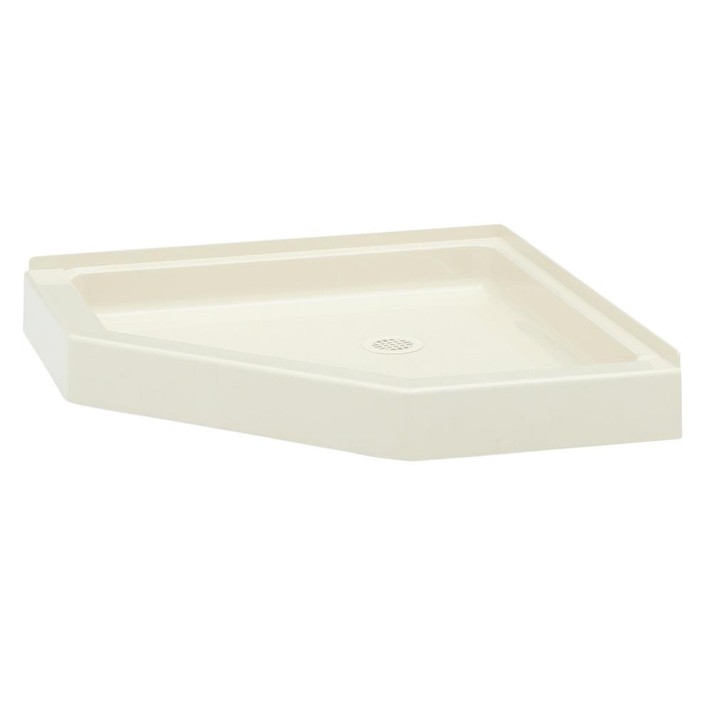 Charming Swan Neo Angle 36 In. X 36 In. Solid Surface Single Threshold Shower Pan
