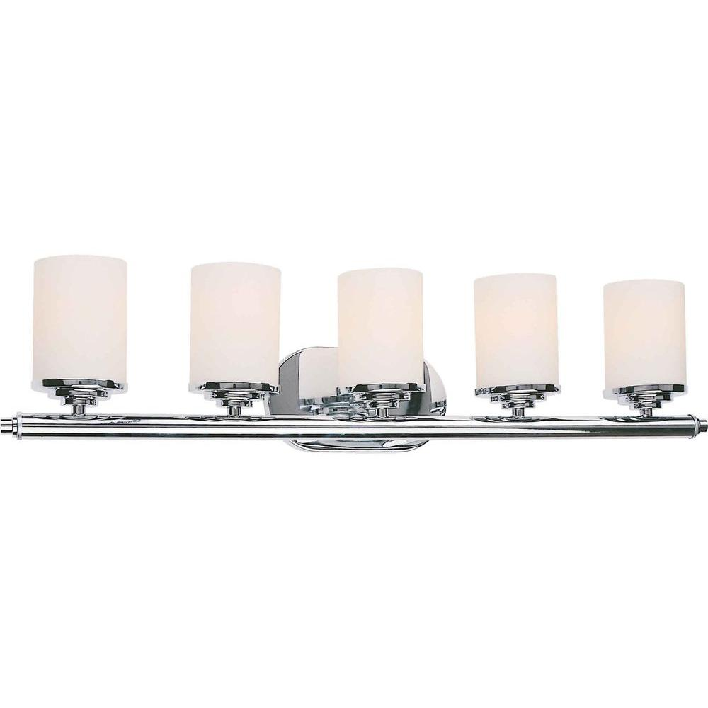 Talista Oralee 5 Light Chrome Bath Vanity Light Cli Frt5115 05 05 The Home Depot