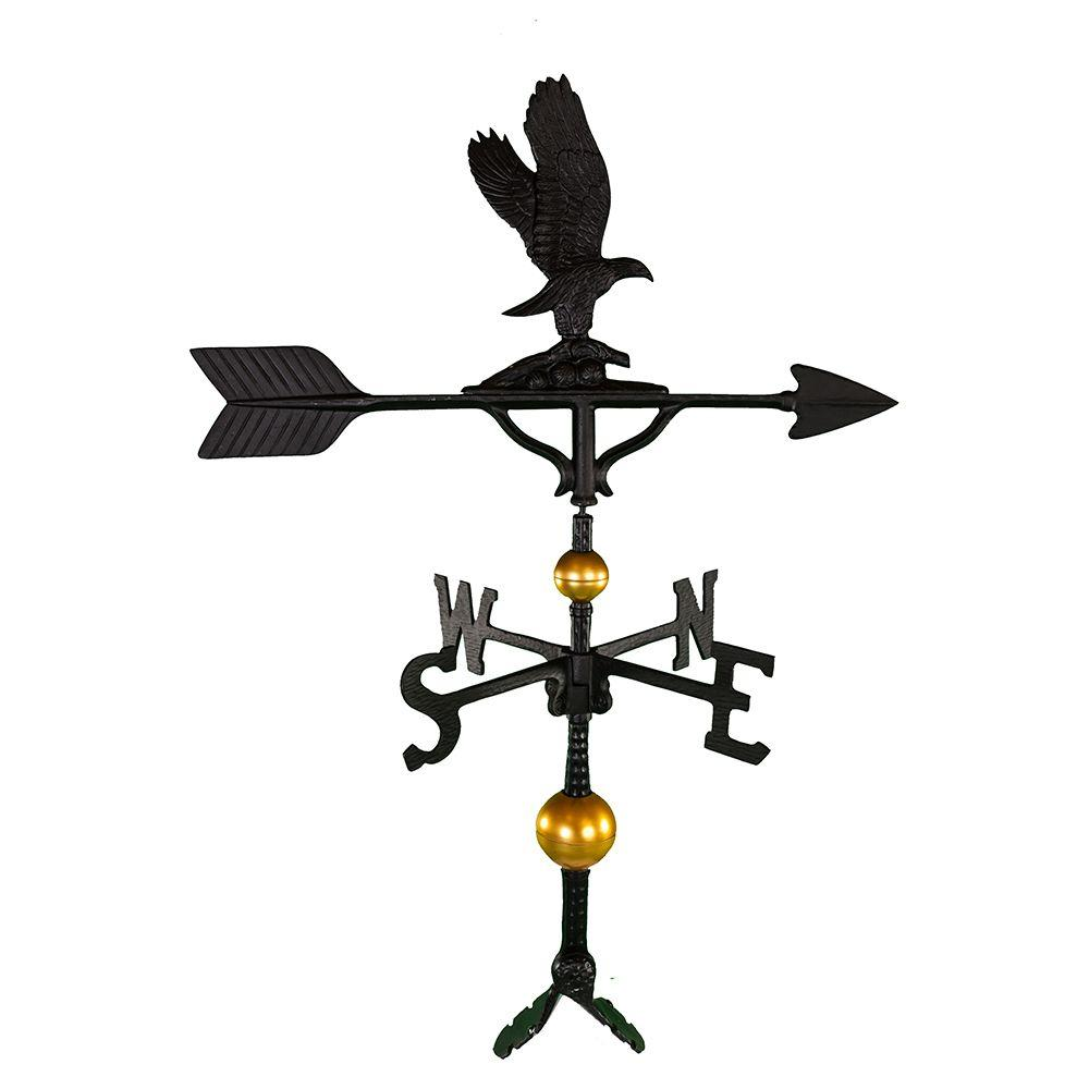 Montague Metal Products 32 in. Deluxe Black Eagle Weathervane